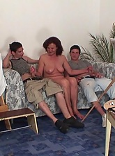 The sweet and super chap-fallen granny be thrilled by hole is filled with the two horny boys