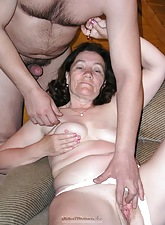 Grandma barely has time take stay away from panties coupled with gets a cock